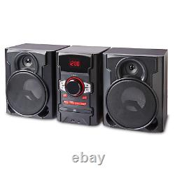 100W Home Audio System Shelf Stereo Bluetooth CD USB Boombox with Remote Control