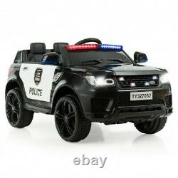 12V Kids Electric Bluetooth Ride On Car with Remote Control-Black Color Black