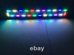 12-52 inch RGB Halo Chasing Led Work Light Bar Strobe Flash Bluetooth/RF Remote