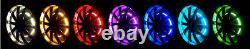 15 RGB LED Illuminated Wheel Rings Rim Light Kit withSwitch Bluetooth App Control