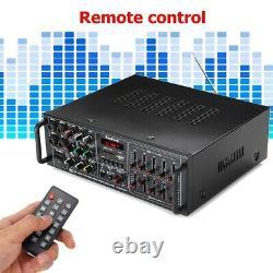 2000W bluetooth HIFI Stereo Amplifier 2CH Tuner Remote Control USB SD Mic