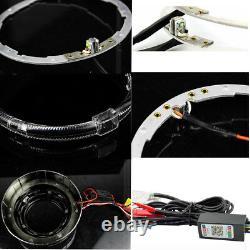 2.5'' HID Bi xenon Projector Lens RGB App Bluetooth Remote Control LED Angel Eye
