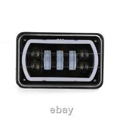 2x DOT 4x6Bluetooth Remote Control RGB LED Cree DRL Headlight Lamp Projector H4