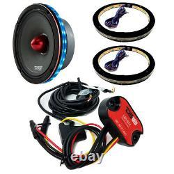 2x Universal RGB Speaker Light Rings 10 LED Bluetooth Remote Control DS18