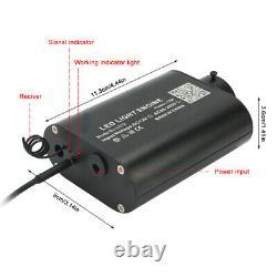 300Pcs Car Star Ceiling Light Fiber Optic Remote Voice Control 28 Keys Bluetooth