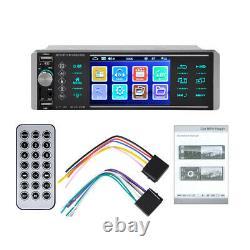 4 Single DIN HD Car Bluetooth MP5 Radio MP3/AUX/FM/USB/SD/TF/BT Remote Control