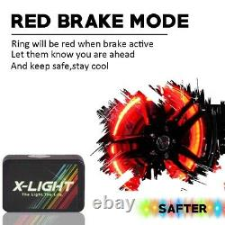 4pc 15 Wheel Ring LED Light Kit Bluetooth App controlled Neon RGB-W Underglow