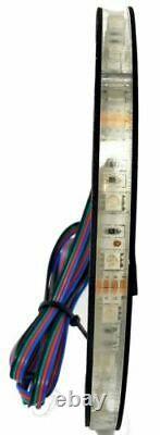 4x Universal RGB Speaker Light Rings 8 LED Bluetooth Remote Control DS18