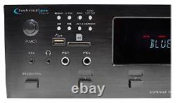 6000w (6) Zone, Home Theater Bluetooth Receiver+(8) Black 8 Ceiling Speakers