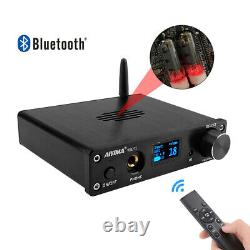 6K4 Tube Preamp MC33078 Bluetooth Preamplifier HIFI OLED with Remote Control T5