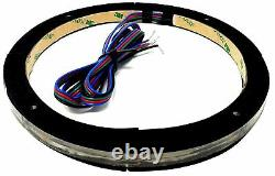 6x Universal RGB Speaker Light Rings 8 LED BTC Bluetooth Remote Control DS18