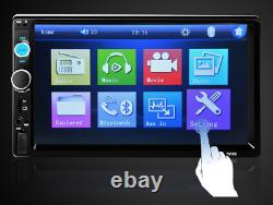 7 Inch Bluetooth Audio In Dash Touch Screen Car radio + remote control & camera