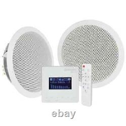 Adastra In-Wall Bluetooth & FM Radio Music System with Ceiling Speakers & Remote