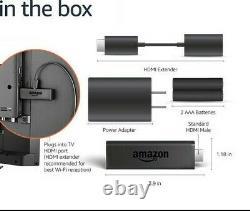 Amazon Fire TV Stick (includes TV control) & Alexa Voice Remote Media Streamer