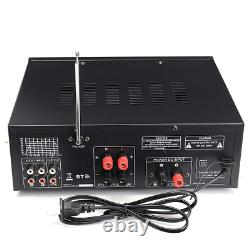 Audio Power Amplifier Speaker Remote Control Bluetooth Micro Input Home Theater