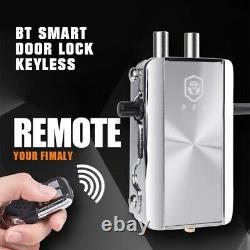 BT Smart Door Lock Keyless APP Bluetooth Remote Control Home Apartment Security