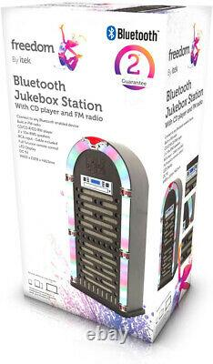 CD Jukebox Machine FM Player Radio Retro Rockola Speakers Remote Control BT LED