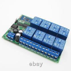 DC 12V 8-CH Bluetooth Receiver Relay Android Smart Remote Control Switch L149