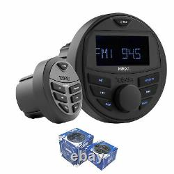 DS18 Hydro Marine & Powersports Bluetooth Head Unit with Remote Control