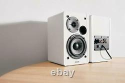 Edifier White R1280T Active Bookshelf Speaker System with Remote Control and