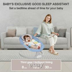 Electric Baby Swing Cradle Bluetooth Music Remote Control Infant Bouncer Chair