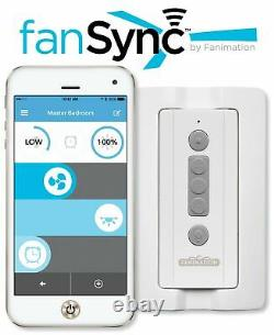 Fanimation fanSync Bluetooth Ceiling Fan Remote Control Light Dimming & Speeds