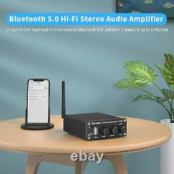 Fosi Audio BL20A Bluetooth Power Amplifier 100W Amp With U-Disk Remote Control