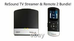 GN ReSound TV Streamer -2 SAS-3 Plus ReSound Remote Control -2 Bundle