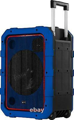 Gemini MPA-2400 Portable Rolling Powered Speaker with Bluetooth Remote Control