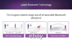 LOVENSE LUSH3 Bluetooth Remote Control Bullet Vibrator Powerful Pink Smart Phone