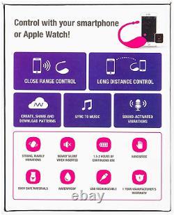 LOVENSE Lush Bluetooth Remote Control Bullet Vibrator Powerful Pink Smart Phone