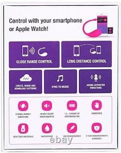 Lush Bluetooth Remote Control Bullet Vibrator Powerful Pink LOVENSE