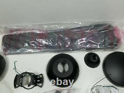 Mocha Indoor/Outdoor 3-Blade Smart Ceiling Fan 54in Black w Remote Control