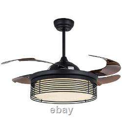 New 42 LED Ceiling Fan Light with Remote Control Color Temperature Adjustable