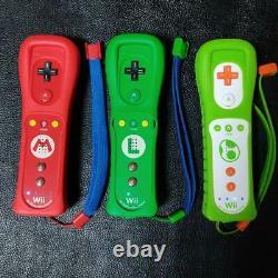 Nintendo Wii remote control plus Mario & Luigi & Yoshi 3 controllers #686