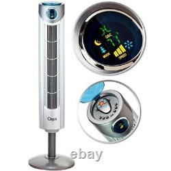 Ozeri Tower Fan Remote Control Thermostat Adjustable Height Oscillating 43 in. H