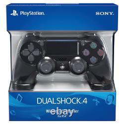 PlayStation 4 DualShock 4 Jet Black Controller Sony PS4 Wireless BT Remote NEW