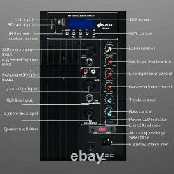 Powered Speaker Pair 12 Bluetooth Remote Control PA Speaker System Portable DJ