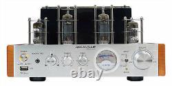 Rockville BluTube Bluetooth Tube Amplifier+6.5 Wood Bookshelf Speakers+8 Sub