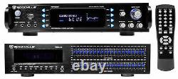 Rockville RPA60BT 1000w Home Theater Bluetooth Receiver+2 x 21 Band Equalizer EQ
