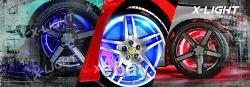 Set of RGB LED Wheel Ring Lights IP68 Color Changing 288LEDs Blue-tooth Control