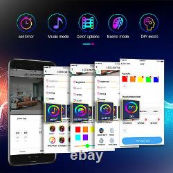 Smart LED Corner Lamp, 61 Tall RGB Floor Lamp with Bluetooth App Remote Control