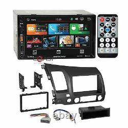 Soundstream 7 BT PhoneLink Stereo Grey Dash Kit Harness for 06-11 Honda Civic