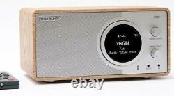 THE+RADIO Oak DAB+/FM Radio with Remote Control Bluetooth USB Alarm Aux Input