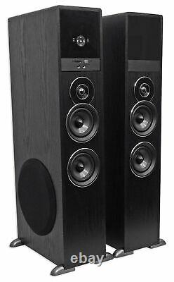Tower Speaker Home Theater System+8 Sub For LG UK6090PUA Television TV-Black