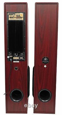 Tower Speaker Home Theater System+8 Sub For Samsung NU6900 Television TV-Wood
