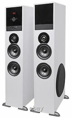 Tower Speaker Home Theater System+8 Sub For Sharp Smart Television TV-White
