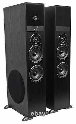 Tower Speaker Home Theater System+8 Sub For Sony X900F Television TV-Black