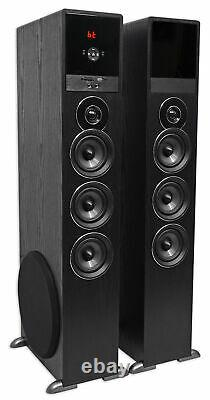 Tower Speaker Home Theater System withSub For Samsung Q7C Television TV-Black