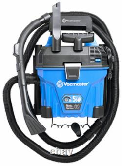 Vacmaster VWMB508 0101 Wall Mount Wet/Dry Vacuum, Remote Control, 5-Gallons, 5
